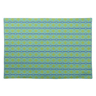 Blue / Green Circles custom placemats