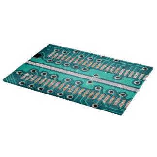Blue Green Circuit Board - Electronics Photography