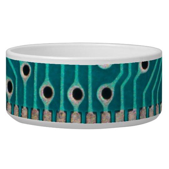 Blue Green Circuit Board - Electronics Photography Bowl