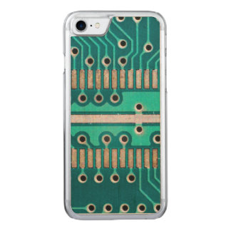 Blue Green Circuit Board - Electronics Photography Carved iPhone 8/7 Case