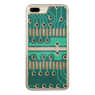 Blue Green Circuit Board - Electronics Photography Carved iPhone 8 Plus/7 Plus Case
