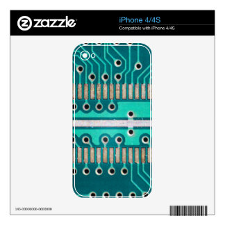 Blue Green Circuit Board - Electronics Photography Decal For iPhone 4