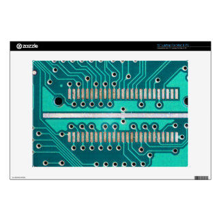 Blue Green Circuit Board - Electronics Photography Decal For Laptop
