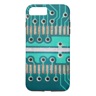 Blue Green Circuit Board - Electronics Photography iPhone 8 Plus/7 Plus Case