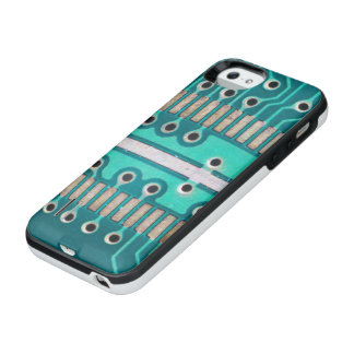 Blue Green Circuit Board - Electronics Photography iPhone SE/5/5s Battery Case