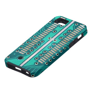 Blue Green Circuit Board - Electronics Photography iPhone SE/5/5s Case