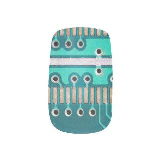 Blue Green Circuit Board - Electronics Photography Minx Nail Wraps