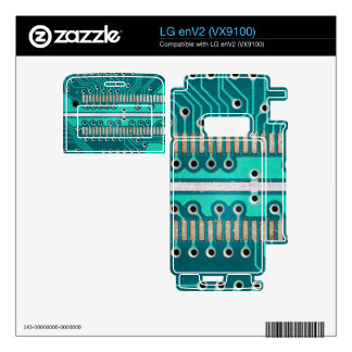 Blue Green Circuit Board - Electronics Photography Skins For The LG enV2