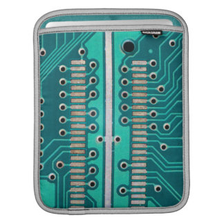 Blue Green Circuit Board - Electronics Photography Sleeve For iPads