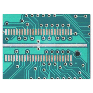 Blue Green Circuit Board - Electronics Photography Tissue Paper
