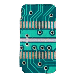 Blue Green Circuit Board - Electronics Photography Wallet Case For iPhone SE/5/5s
