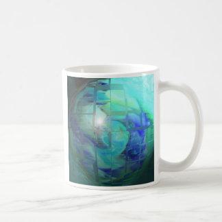 blue green classic white coffee mug