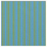 [ Thumbnail: Blue & Green Colored Lined/Striped Pattern Fabric ]