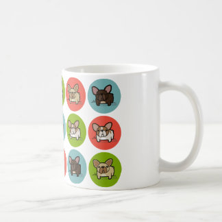 Blue, Green & Coral Frenchies Coffee Mug