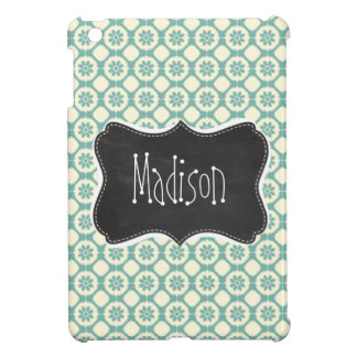 Blue-Green & Cream Floral; Vintage Chalkboard iPad Mini Cases