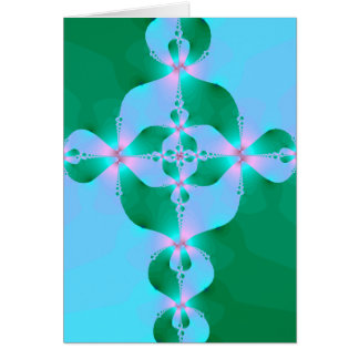 Blue Green Cross Greeting Cards