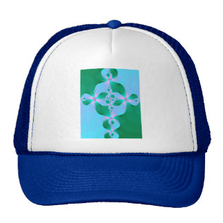 Blue Green Cross Trucker Hat