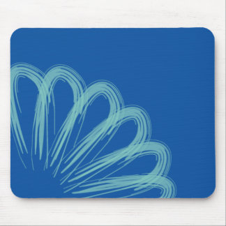 Blue & Green Daisy Mouse Pad