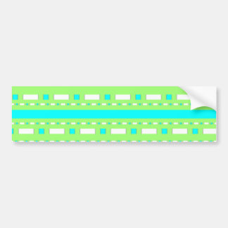 Blue Green Dash Car Bumper Sticker