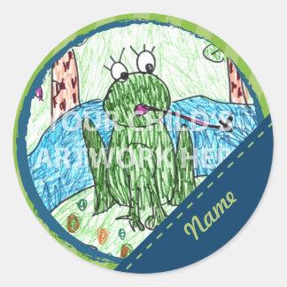 Blue Green Dash Stickers 6 75