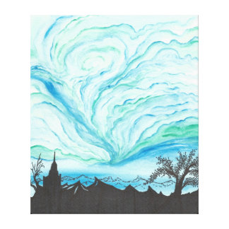 Blue Green Day Canvas Print