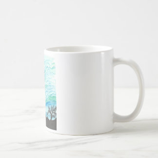 Blue Green Day Coffee Mugs