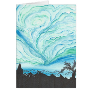 Blue Green Day Greeting Cards