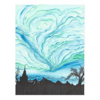 Blue Green Day Postcard