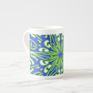 Blue Green Decoration White Mug