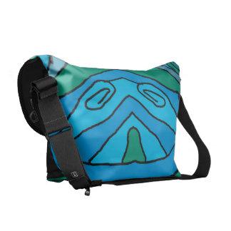 Blue & Green Delight Messenger Bag