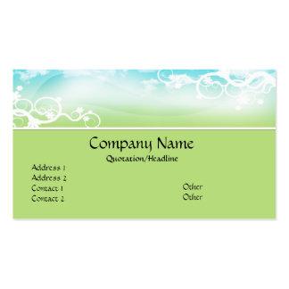 Blue/Green Designed Topper Business Cards