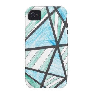 Blue Green Diagonal Stripes iPhone 4 Case