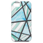 Blue Green Diagonal Stripes iPhone 5 Case