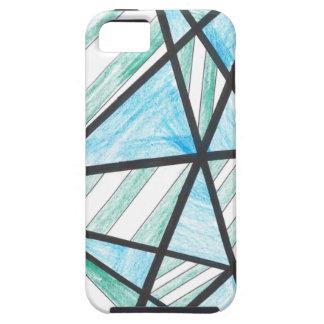 Blue Green Diagonal Stripes iPhone 5 Case