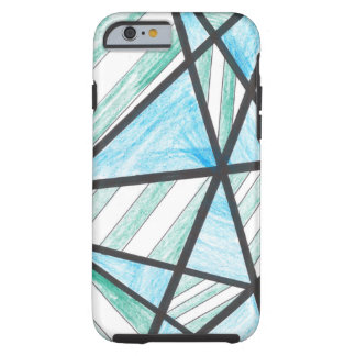 Blue Green Diagonal Stripes iPhone 6 case