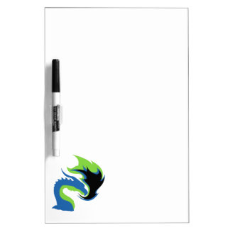 Blue Green Dragon Dry Erase Board