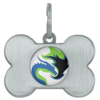 Blue Green Dragon Pet ID Tag
