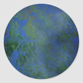 Blue Green Dream Classic Round Sticker
