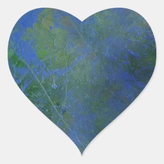 Blue Green Dream Heart Sticker