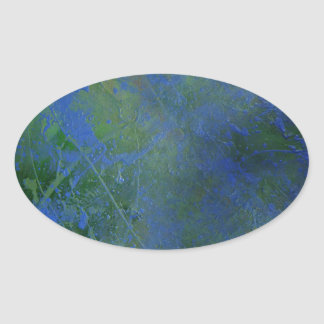 Blue Green Dream Oval Sticker