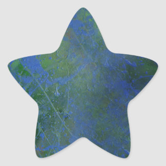 Blue Green Dream Star Sticker