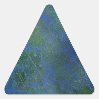 Blue Green Dream Triangle Sticker