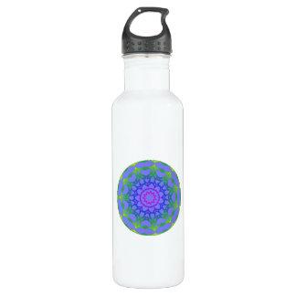 Blue Green Earth Mandala Digital Art Watter Bottle 24oz Water Bottle