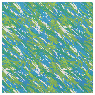 Blue Green Eco Camouflage Fabric