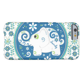 Blue Green Elephant Floral Barely There iPhone 6 Case