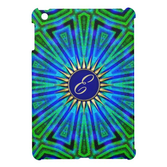 Blue Green Energy Aura Monogram iPad Mini Case