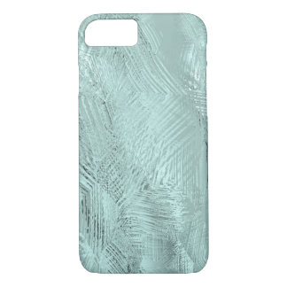 Blue Green Etched Glass Printed iPhone 8/7 Case