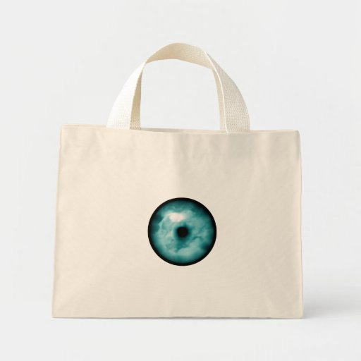 Blue Green eye cloud graphic aqua Bag