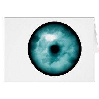 Blue Green eye cloud graphic aqua Cards