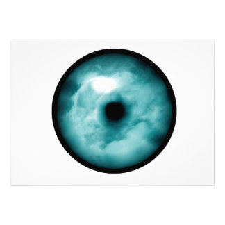 Blue Green eye cloud graphic aqua Custom Invite